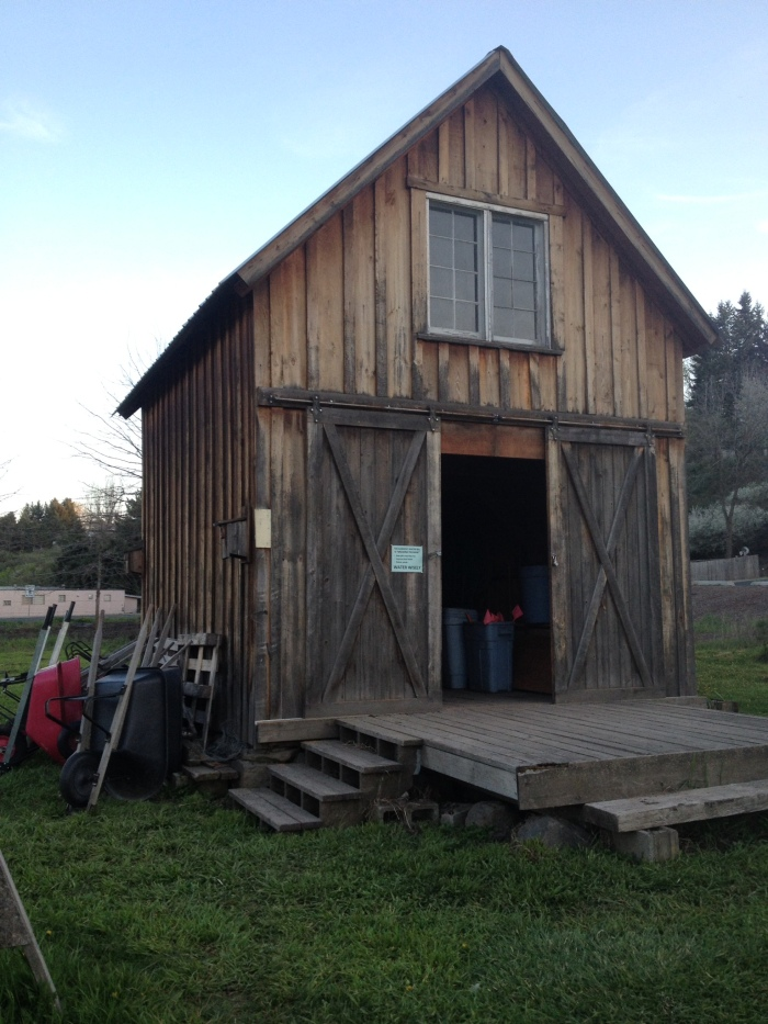 They have a little barn house full of all the tools you could possibly need!