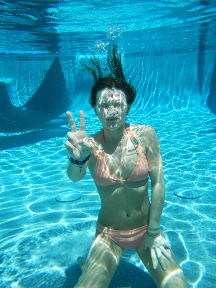 I really suck at not plugging my nose underwater..