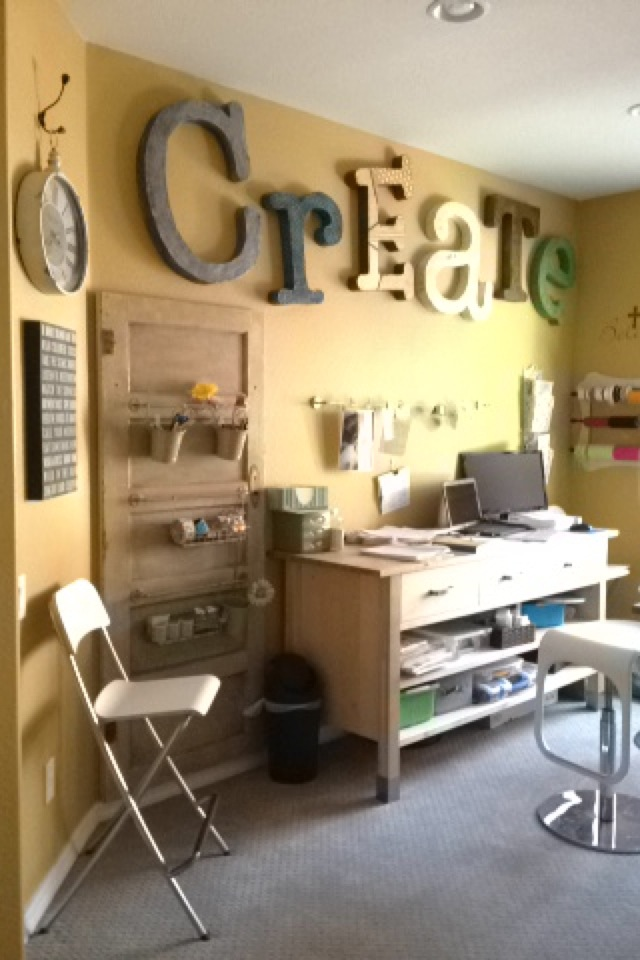 Emma's craft room. On the other side there is huge ceiling to floor pantries FULL of paper crafting stuff, paints, washi tape, art journals, everything you could possibly need.